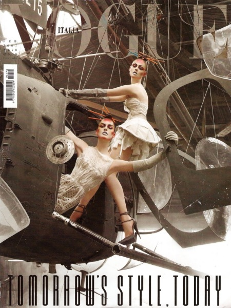 Coco Rocha Hilary Rhoda Vogue It Feb 2007 © Steven Meisel Cover