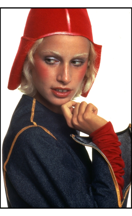 Donna Jordan in a look by Nanni Strada 1971 © Oliviero Toscani