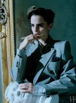 Emma Watson Watson in a jacket by Balenciaga; shirt and pocket-square by Anderson & Sheppard
