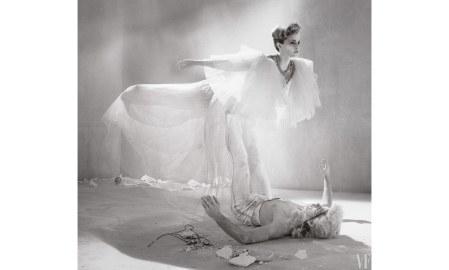Emma Watson Watson wear gown Gucci model Jordan Robson