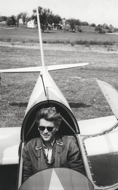 Gleb in his glider after a flight, mid to late 1950s CREDIT FROM CAPTURING FASHION DERUJINSKY