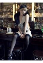 "Guinevere Van Seenus & Coco Rocha Sasha Pivovarova Agyness Deyn Carolin Trentini ""Paris, je t_aime"" Vogue US September 2007 © Steven Meisel"