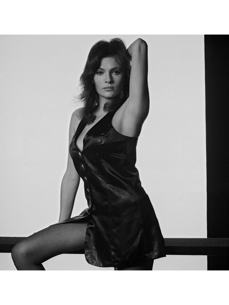 Jacqueline Bisset in a mini-dress, circa 1975 © Terry O'Neill