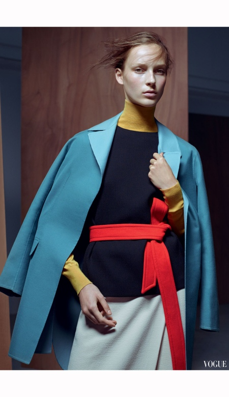 "Julia Bergshoeff ""Be Precise"" Vogue Dec 2014 Karim Sadli"