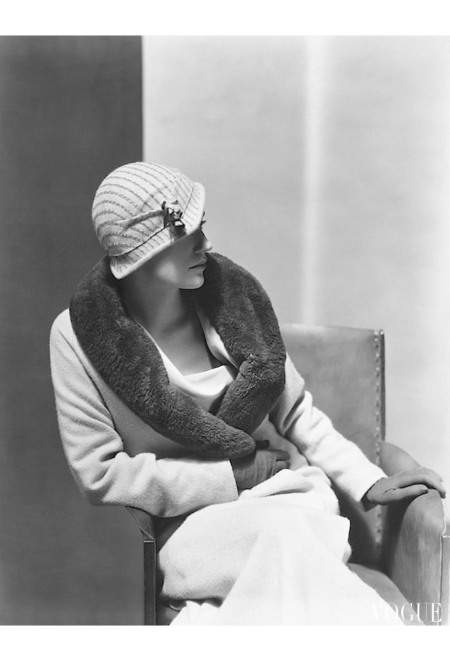 Lee Miller - Wearing A Light Coat By Vionnet Vogue Sept 1931 © George Hoyningen-Huene