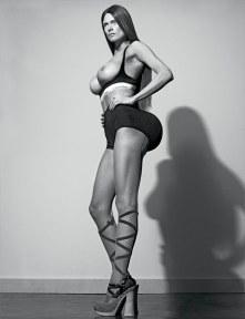 Malgosia Bela wears a black bra by Calvin Klein