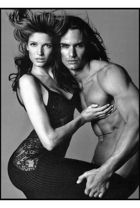 Marcus Schenkenberg and Stephanie Seymour for Versace, New York, April 19, 1993 b