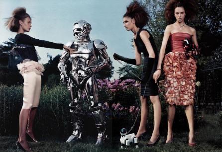Natalia Vodianova, Eugenia Volodina, Elise Crombez, Liya Kebede The Total Lady Vogue US September 2003 © Steven Klein1