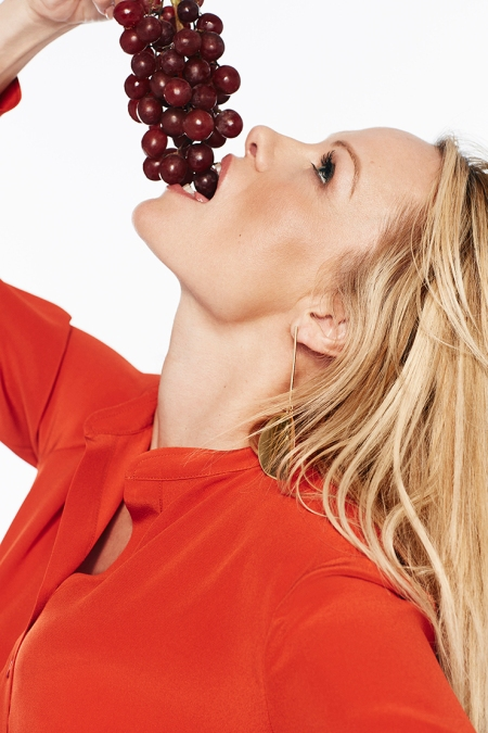 Pamela Anderson with Grapes, 2015