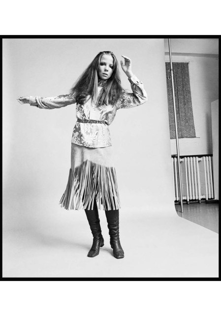 Penelope Tree posa nel 1968, foto di Bettmann (Getty Images).