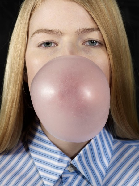 Roe Ethridge, Louise Blowing a Bubble 2013