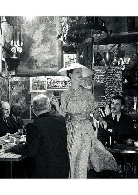 Ruth Neimann wearing Lanvin Castillo at Roger La Grenouille in Paris