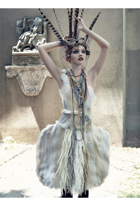 "Sasha Pivovarova ""Paris, je t_aime"" Vogue US September 2007 © Steven Meisel"