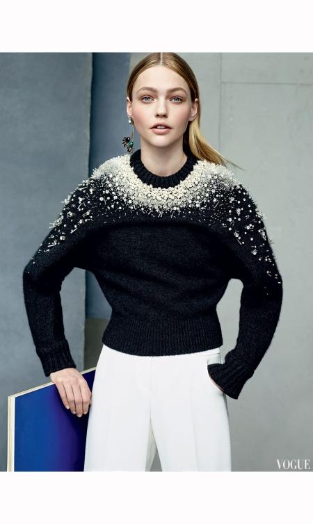 Sasha Pivovarova Vogue, July 2014 Karim Sadli b