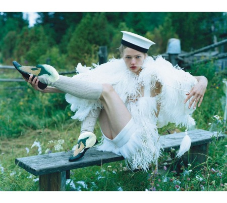 Sasha Pivovarova White Night British Vogue January 2007 © Tim Walker
