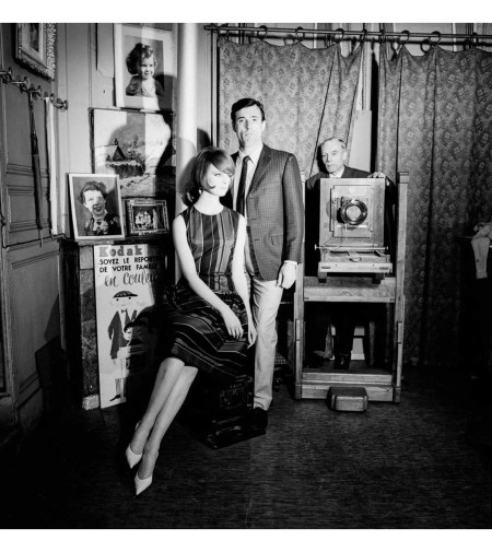 Former model and current Vogue creative director at large Grace Coddington, left, with Peter Anthony in June 1961