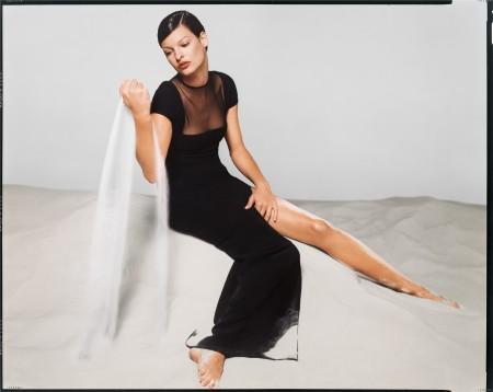 Linda Evangelista, Versace Spring:Summer 1993 campaign, New York, November 1992 © Richard Avedon