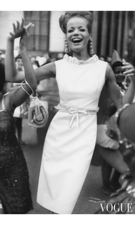 Portrait of Veruschka on the streets of Rio de Janiero june 1965