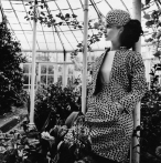 A model in the garden conservatory of Chiswick House, June 1968 © Henry Clarke