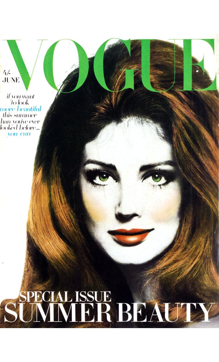 Gayle Hunnicut Vogue cover June 1968 © David Bailey