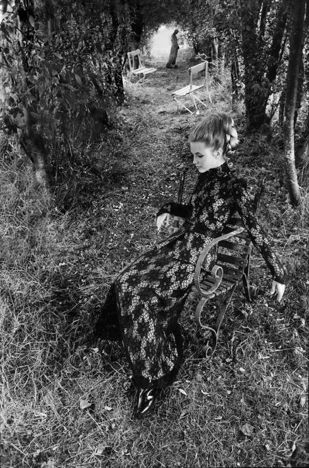 Judy Bowker in a New Forest garden, October 1969 Graham Finlayson